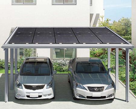 カーポートで太陽光発電